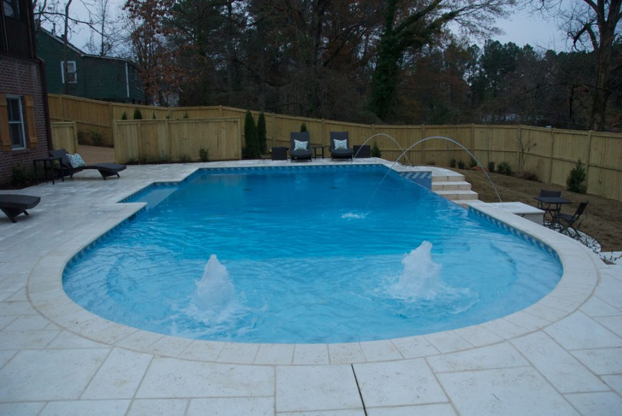example of an oxford ms pool project - Geysers and laminer jet