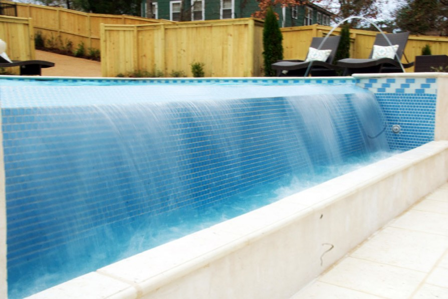 example of an oxford ms pool project - Coping and tile
