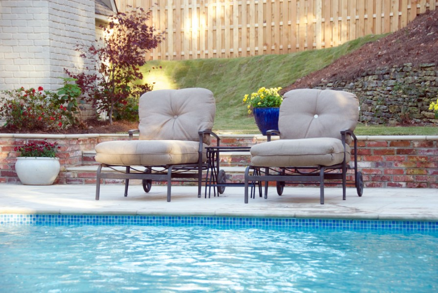 example of an oxford ms pool project - Lounge chairs by pool