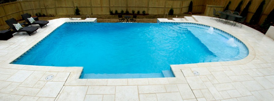 example of an oxford ms pool project - Pool and deck #1