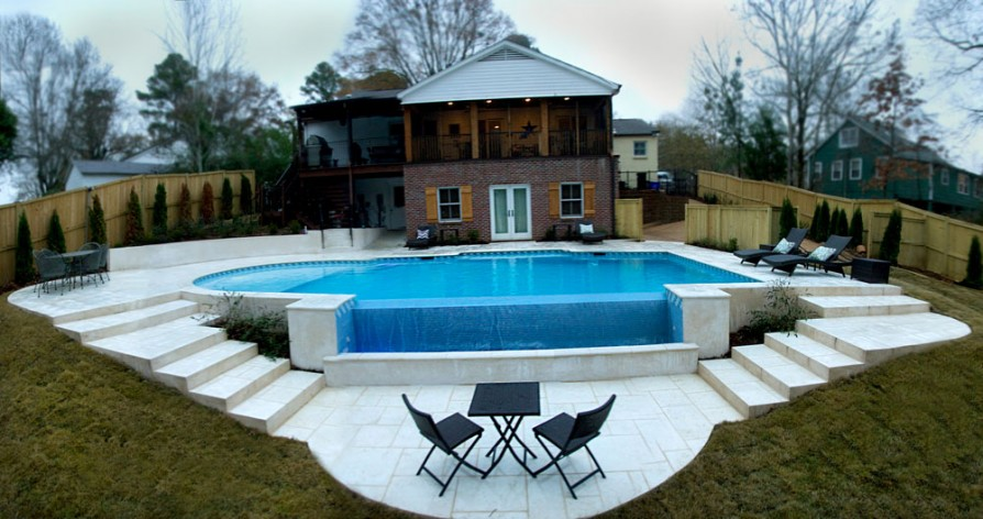 example of an oxford ms pool project - Pool and deck #2