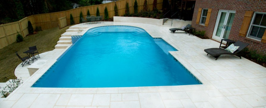 example of an oxford ms pool project - Pool and deck #3