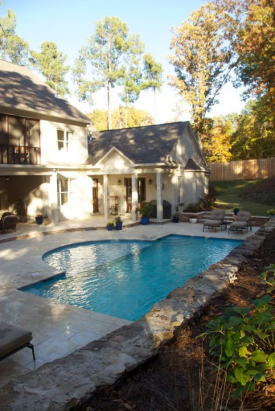 example of an oxford ms pool project - Pool and landscape