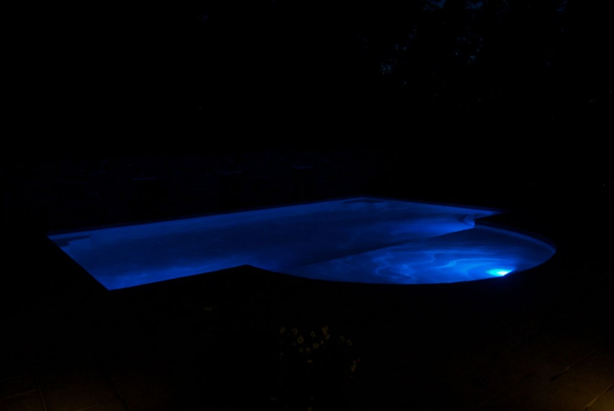 example of an oxford ms pool project - Pool at night